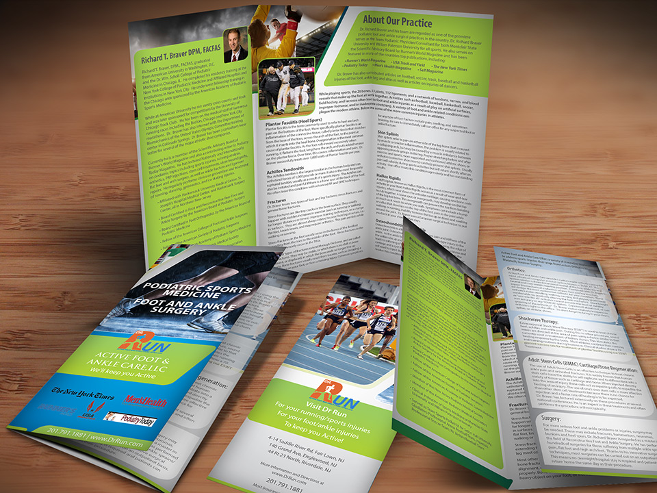 Sports Medicine Brochure  Pain Management Brochure  Graphics For