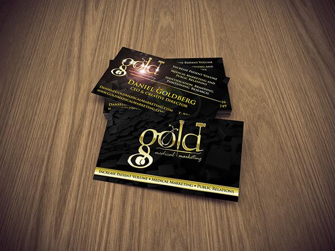 Gold Medical Marketing Business Cards