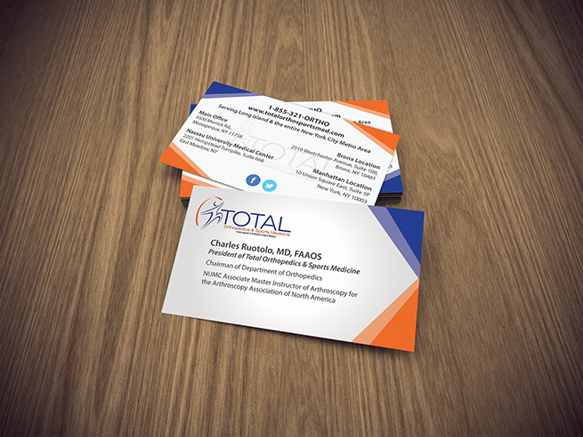 Business cards for doctors orthopedic business cards graphics total ortho business cards reheart Gallery