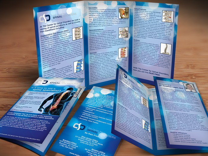 Center for Spinal Disorders Brochure