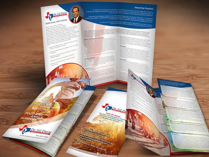 Dr Ed Davis South Texas Podiatrist Brochure