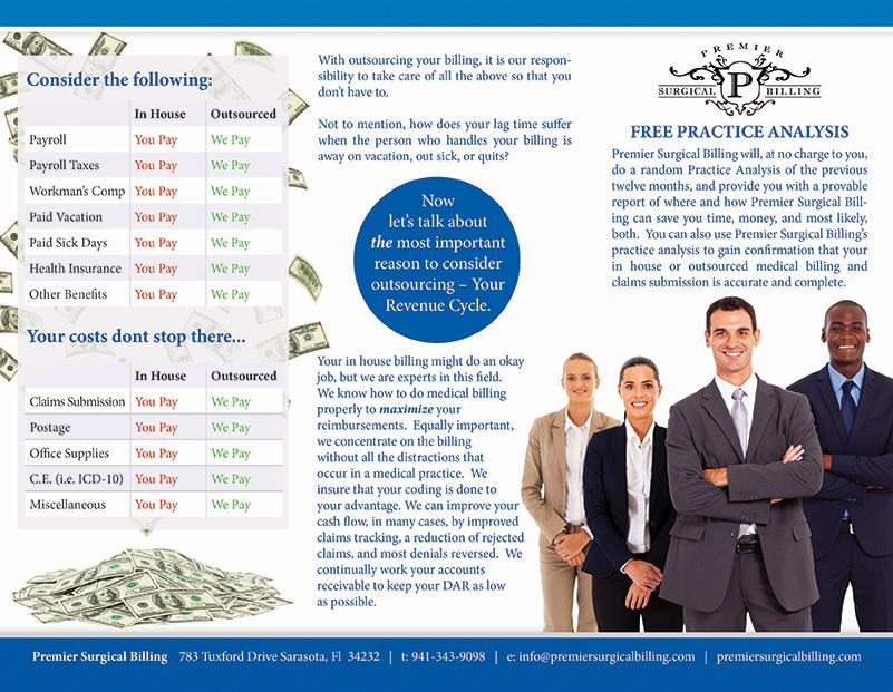 premier surgical billing medical billing brochures graphics for