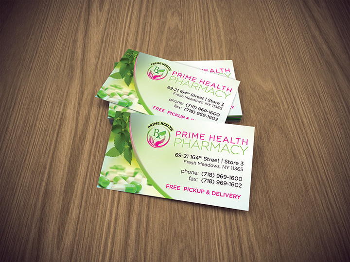 Prime Health Pharmacy Business Card