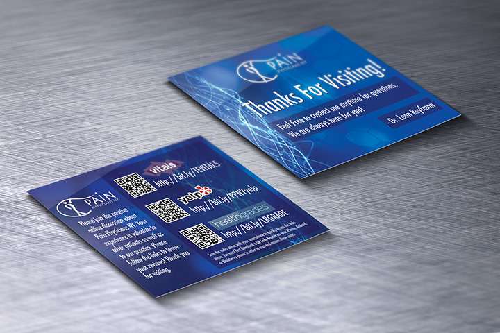 Patient Referral Card Design