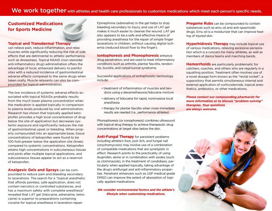 Pharmacy Sports Medicine Brochure