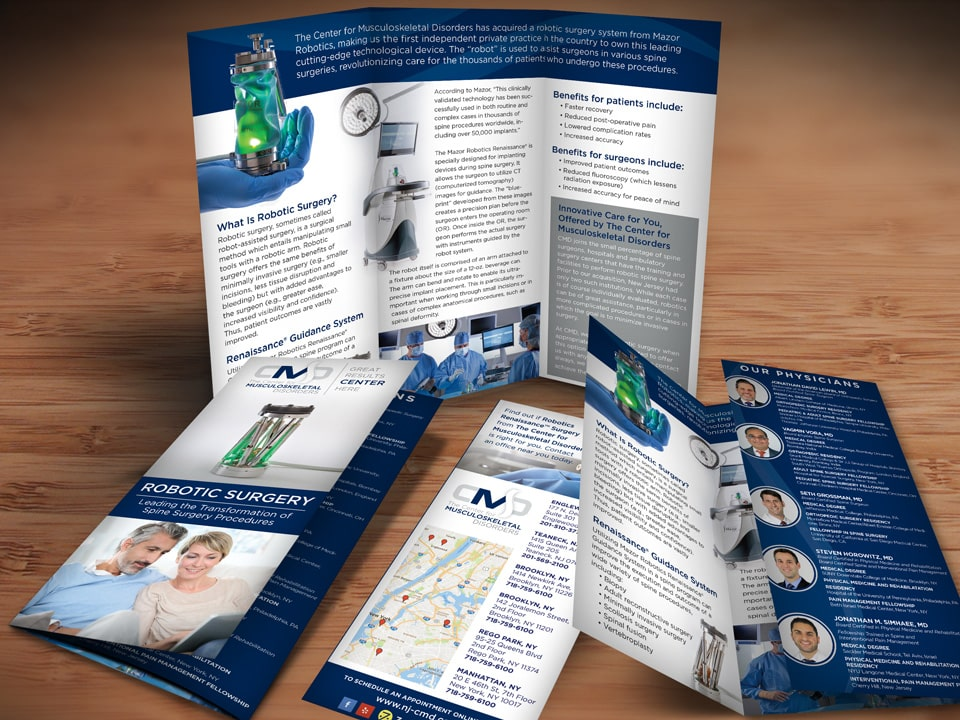 robotic surgery brochure design