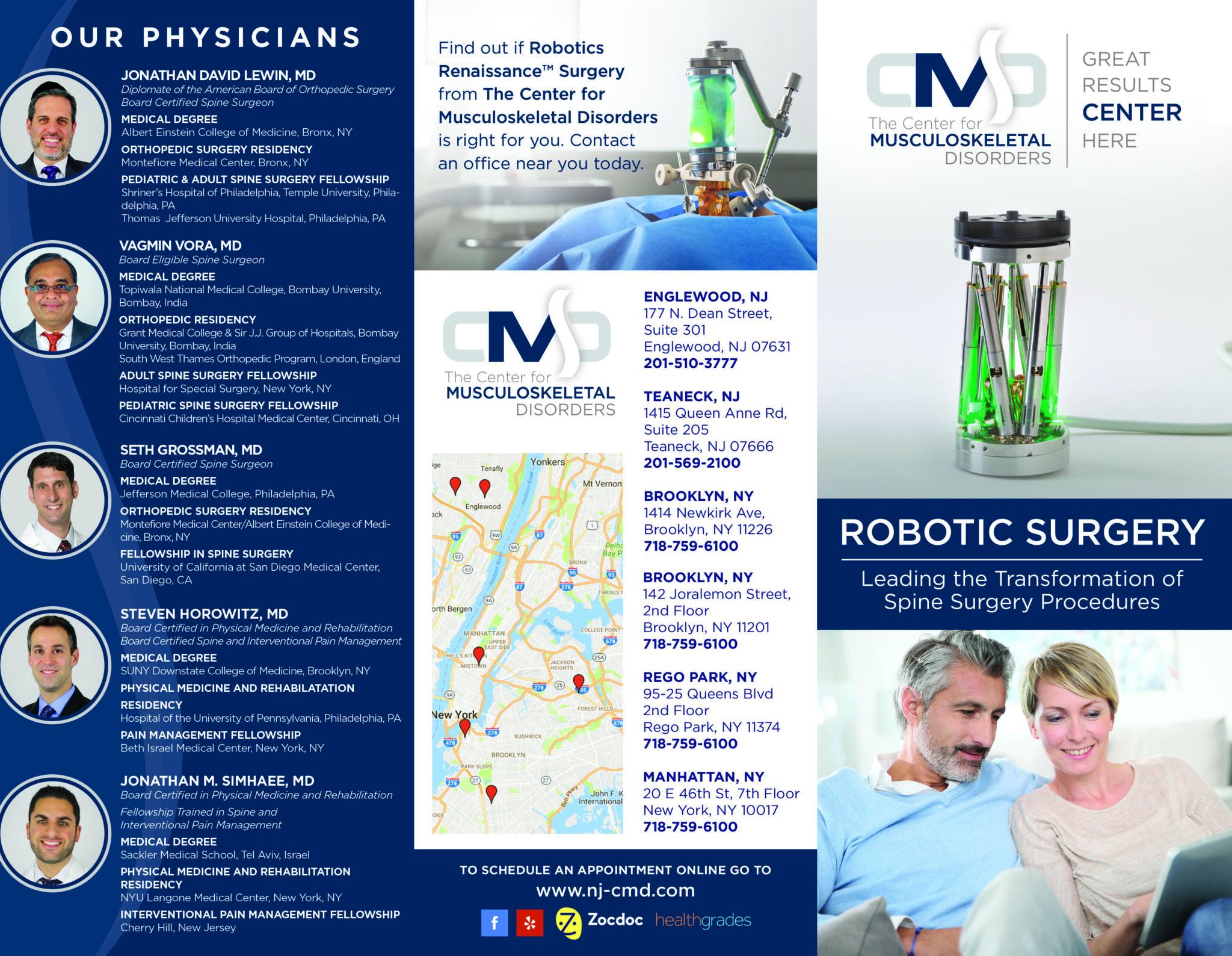 robotic surgery brochure design