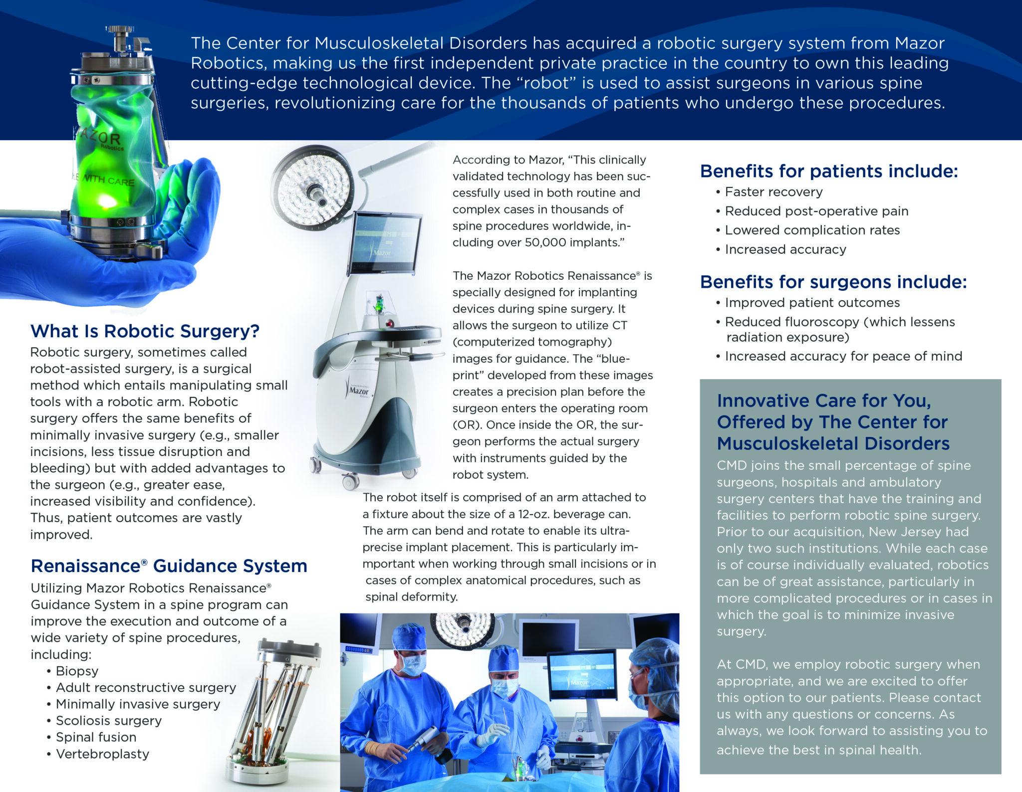Graphics For Doctors Cmd Robotics Brochure Inside