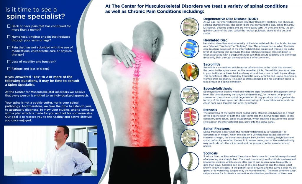 spine treatments brochure design